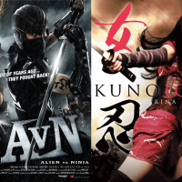 Alien vs Ninja vs Kunoichi