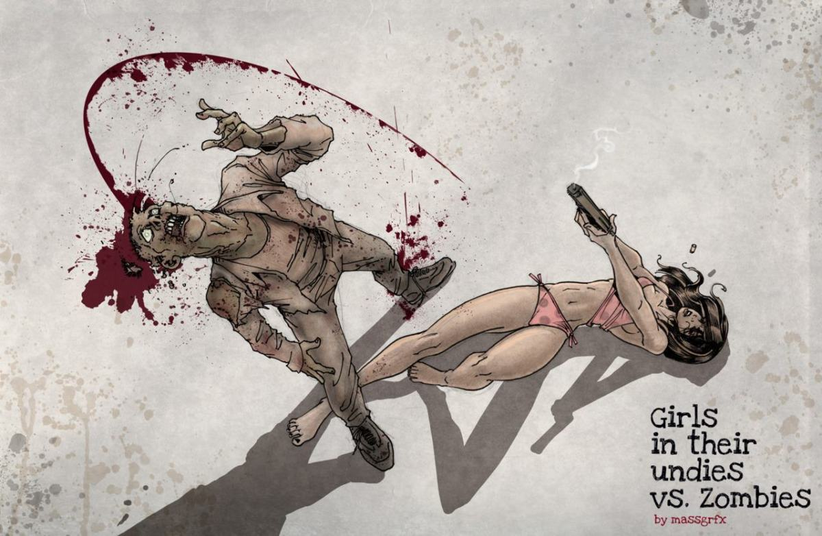 Girls in Their Undies vs. Zombies