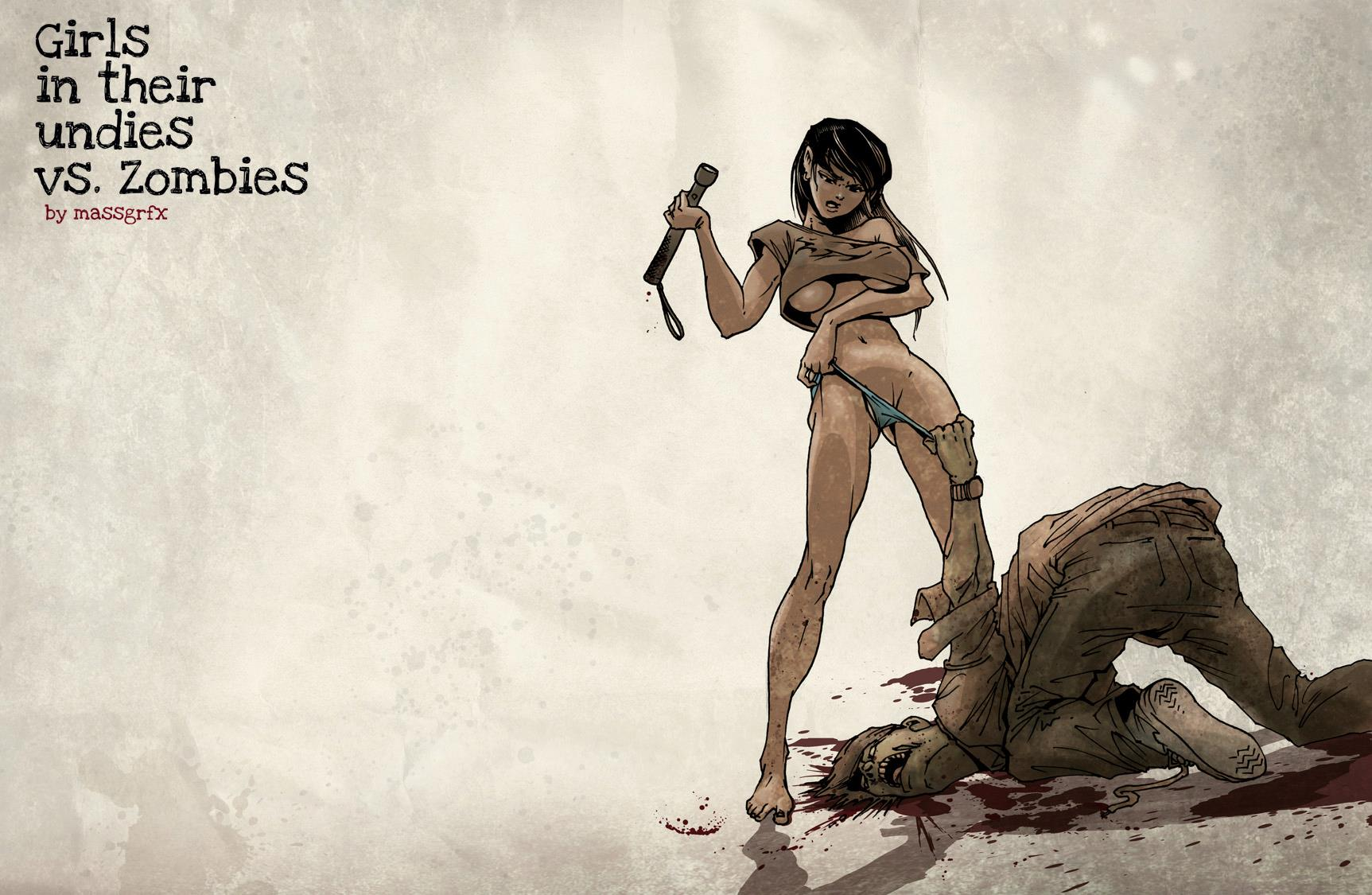 Girls In Their Undies Vs Zombies  My Heart Explodes-2945